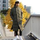 Padded Hooded Long Jacket