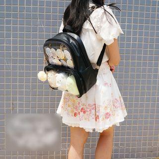Transparent Panel Backpack