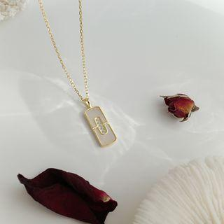 Bar Pendant Necklace As Shown In Figure - One Size