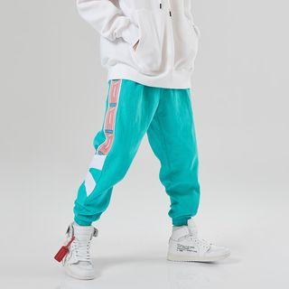 Color Panel Harem Pants