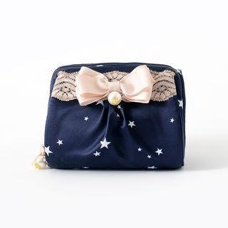Bow Printed Makeup Bag
