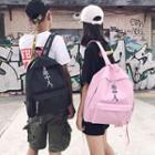 Chinese Character Print Lightweight Backpack