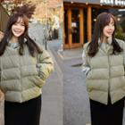 Detachable-sleeve Padded Jacket