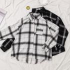 Long Sleeve Plaid Loose Shirt