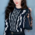 Patterned Sweater Black - One Size