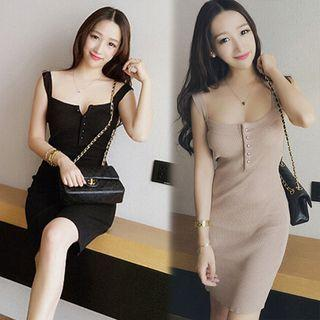 Knitted Sleeveless Bodycon Dress