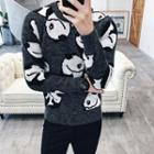 Panda Crewneck Knit Top