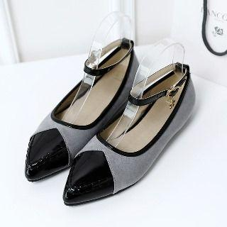 Ankle Strap Panel Flats