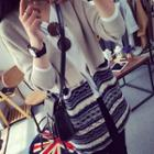 Patterned Open Front Cardigan