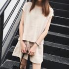 Set: Linen Plain Top + Shorts