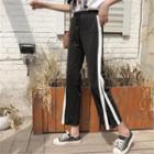 Cropped Striped-trim Pants
