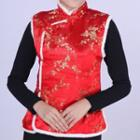 Sleeveless Jacquard Cheongsam Top