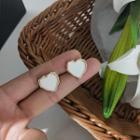 Alloy Heart Stud Earring / Clip-on Earring