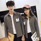 Couple Matching Applique Shirt