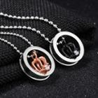 Couple Matching Crown Pendant Necklace