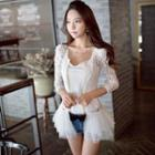 Tulle Layered Lace Light Jacket