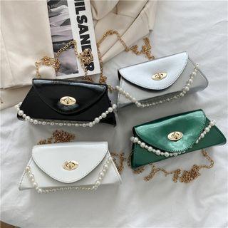Faux Pearl Chain One-shoulder Crossbody Bag