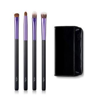 Vdl - Point Brush Set: Concealer Brush 1pc + Eyeshadow Base Point Brush 1pc + Base Eyeshadow Brush 1pc + Smudge Eyeshadow Brush 1pc 4pcs