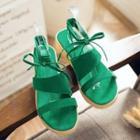 Ankle Tie Platform Sandals