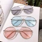Double-bridge Metal Frame Sunglasses