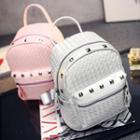 Studded Woven Backpack