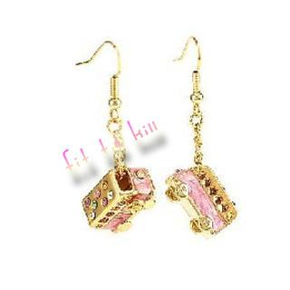 Mini Pinky Bus Earrings