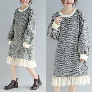 Crew-neck Pullover Dress As Shown In Figure - One Size