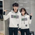 Printed Hooded Couple Matching Pullover
