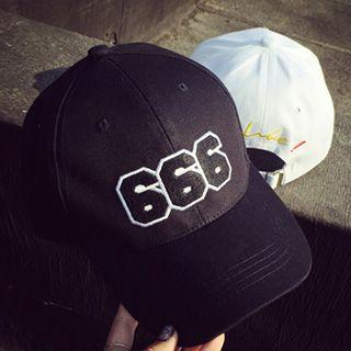 Number Applique Baseball Cap