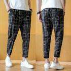 Plaid Crop Harem Pants