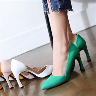 Pointy-toe D'orsay Stilettos