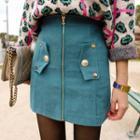 Zipped Mini Skirt