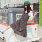 Dotted Midi Jumper Dress