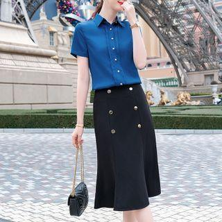 Short-sleeve Shirt / Pants / Midi Skirt / Set