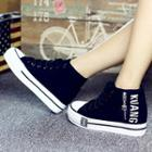 Letter High-top Sneakers