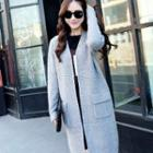 Pocket-accent Long Knit Cardigan