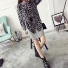 Leopard Print Long Sweater