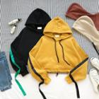 Long-sleeve Cropped Hooded Top