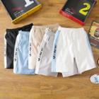 Drawstring Waist Lettering Shorts