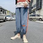 Gather-cuff Panel Harem Pants