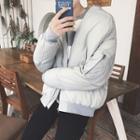 Plain Zip Padded Jacket