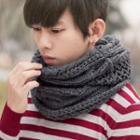 Plain Chunky Knit Scarf