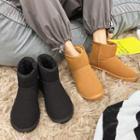 Plain Fleece Lined Short Boots