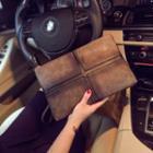 Faux Leather Cross Clutch