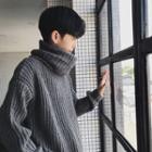 Drop-shoulder Turtleneck Knit Sweater