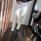 High-waist Brushed-fleece Lined Skinny Pants