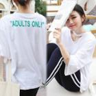 Choker-neck Adults Only Printed T-shirt