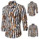 Striped & Chain Print Shirt