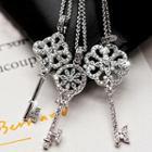 Rhinestone Key Pendant Necklace