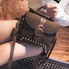 Buckled Studded Crossbody Bag